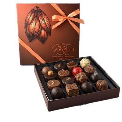 Boite cabosse 16 chocolats-assortis - 160g