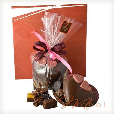 Coeur lait chocolats assortis - 180g