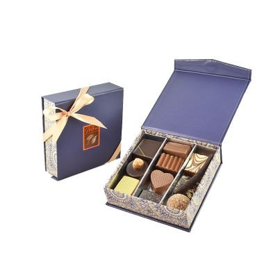 Boite Rosace BLEU chocolats 130g-assortis
