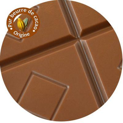 Tablette chocolat lait pure origine - Plusieurs origines au choix :
