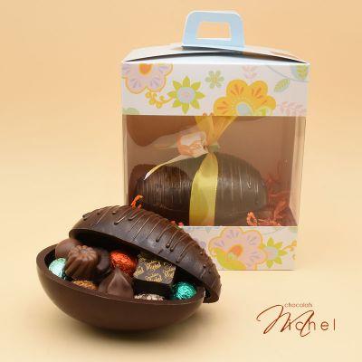 Oeuf NOIR garni chocolats assortis - 400g