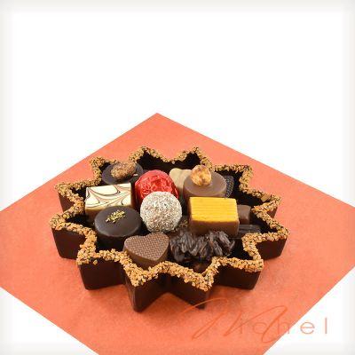 Etoile garnie chocolats assortis - 310g