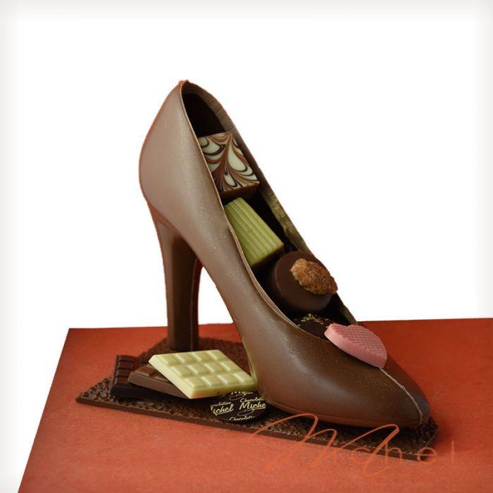 fc05a3eb188 Escarpin noir chocolats assortis -275g chocolats-michel.fr
