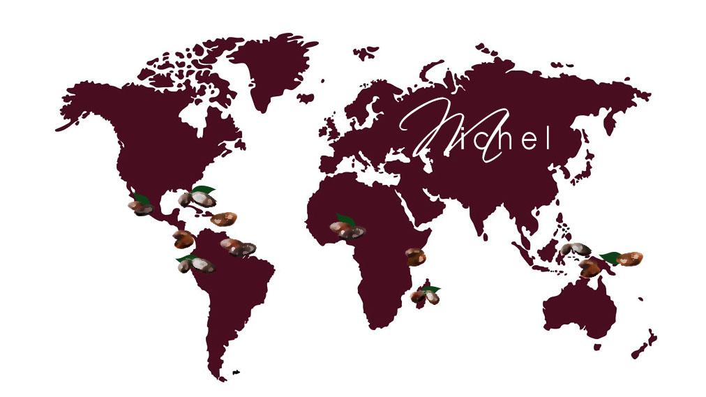 map chocolat origine